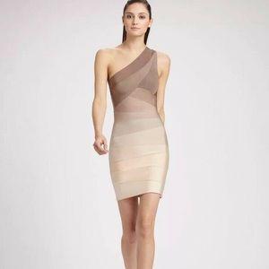 Herve Leger Alexis One-Shoulder Bandage Dress